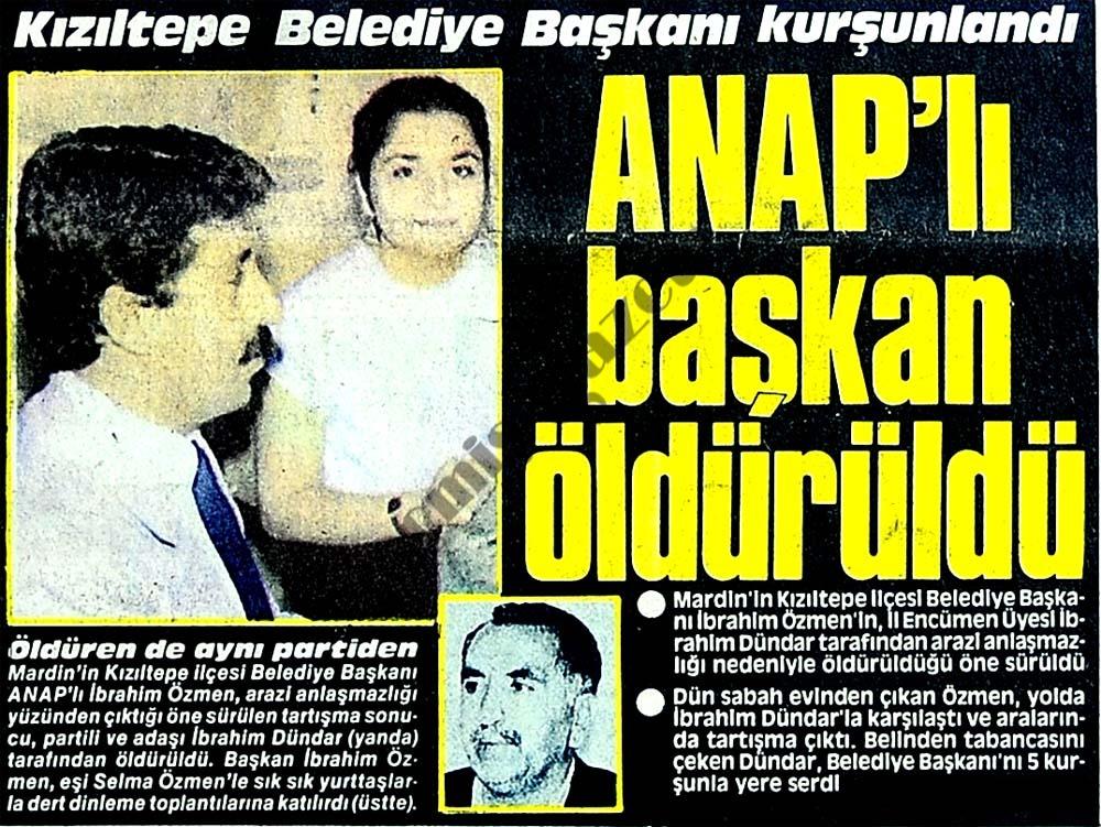 ANAP'lı başkan öldürüldü