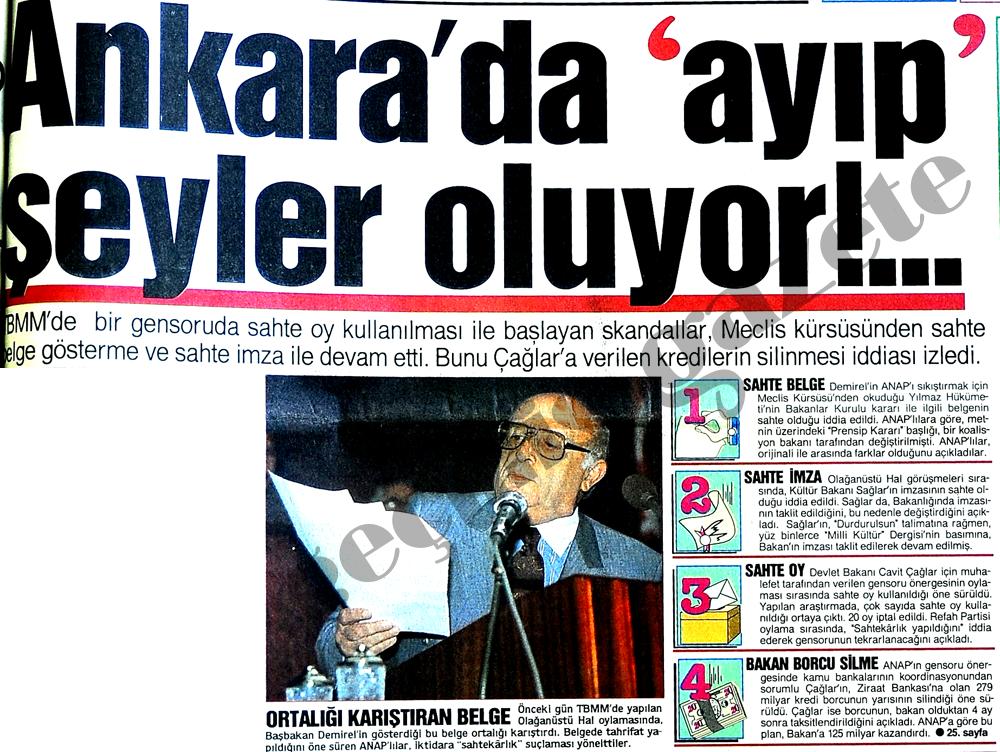 Ankara'da ayıp şeyler oluyor