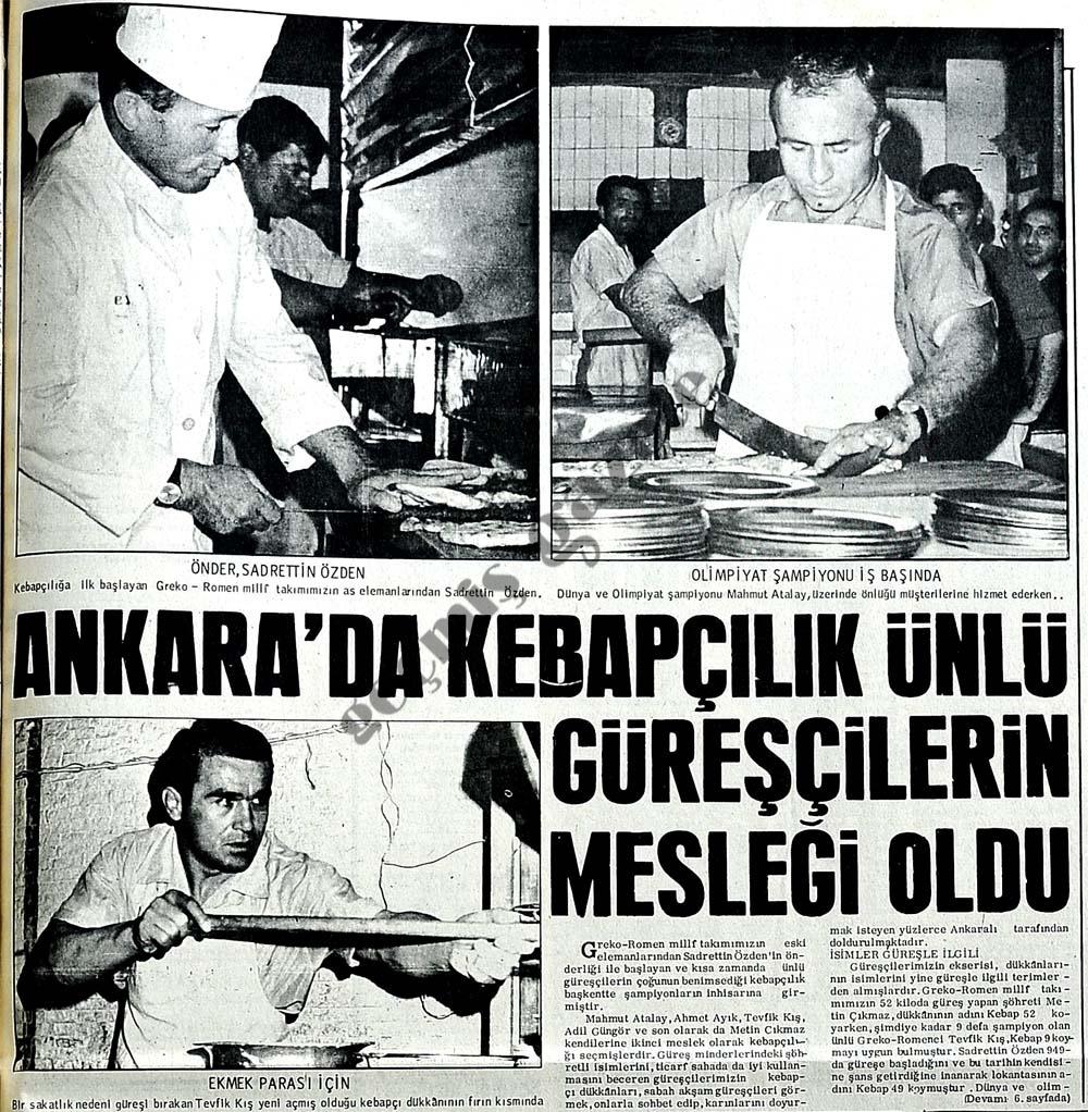 Ankara'da kebapçılık ünlü güreşçilerin mesleği oldu