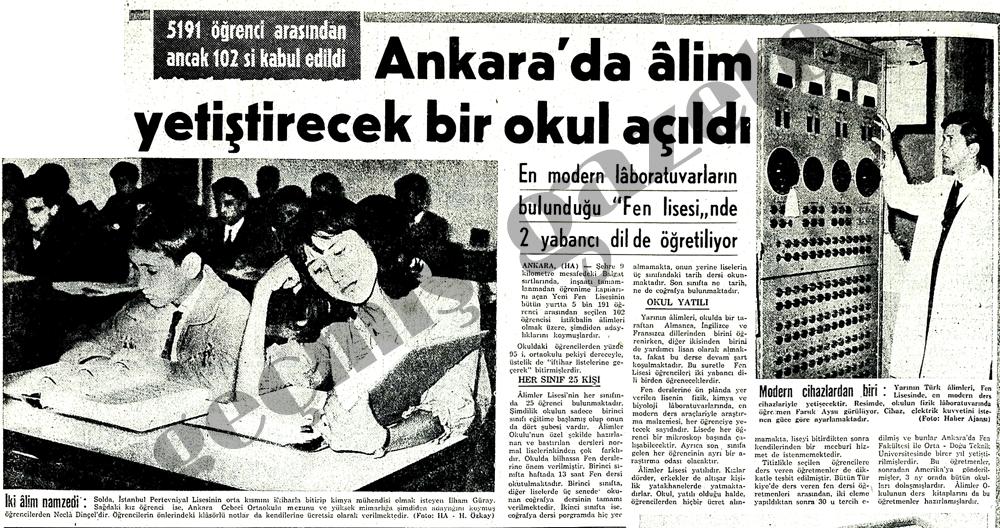 Ankara'da âlim yetiştirecek bir okul açıldı