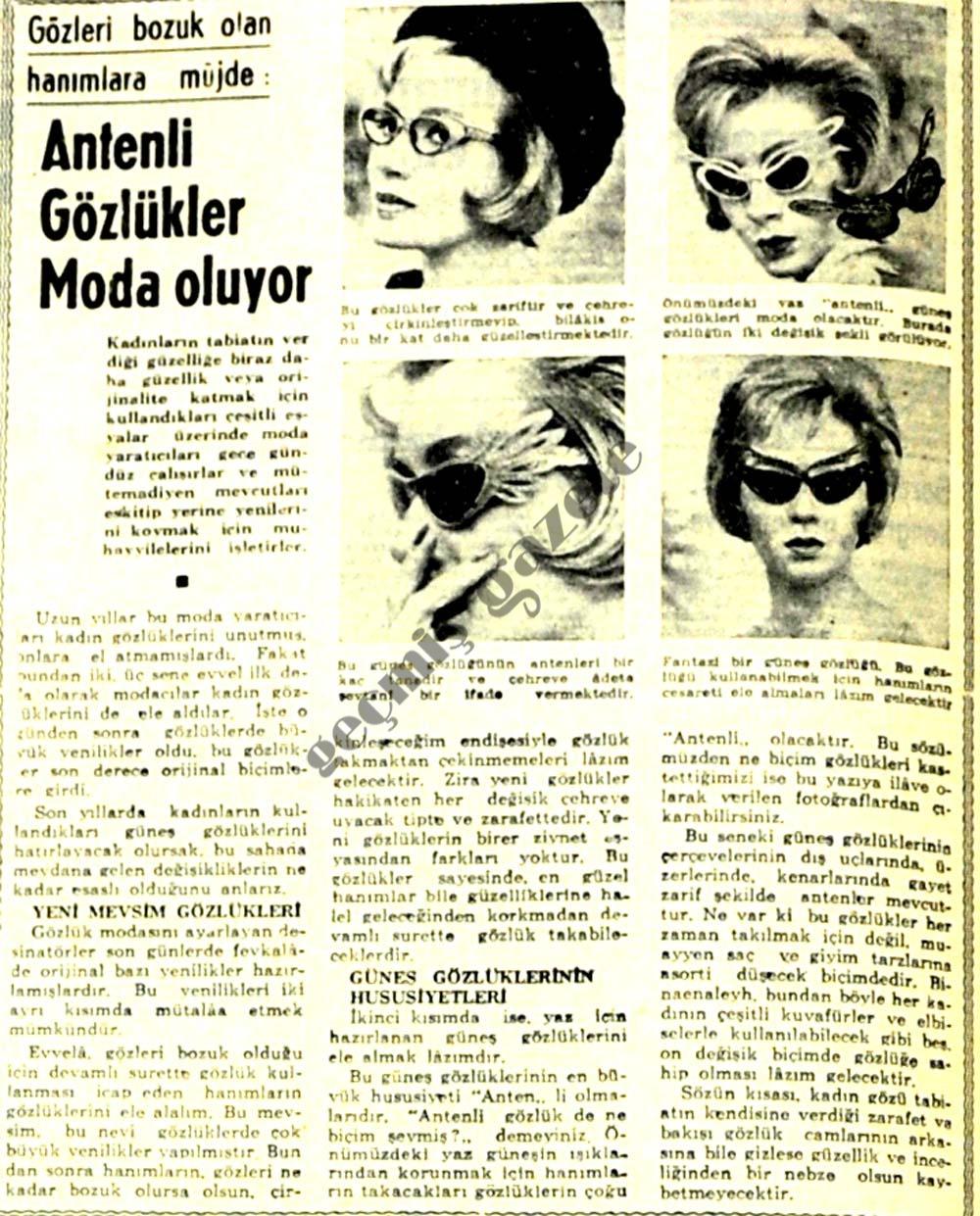 Antenli gözlükler moda oluyor