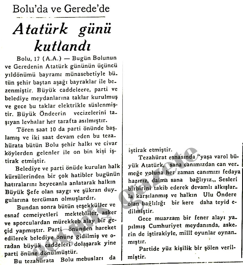 Atatürk günü kutlandı