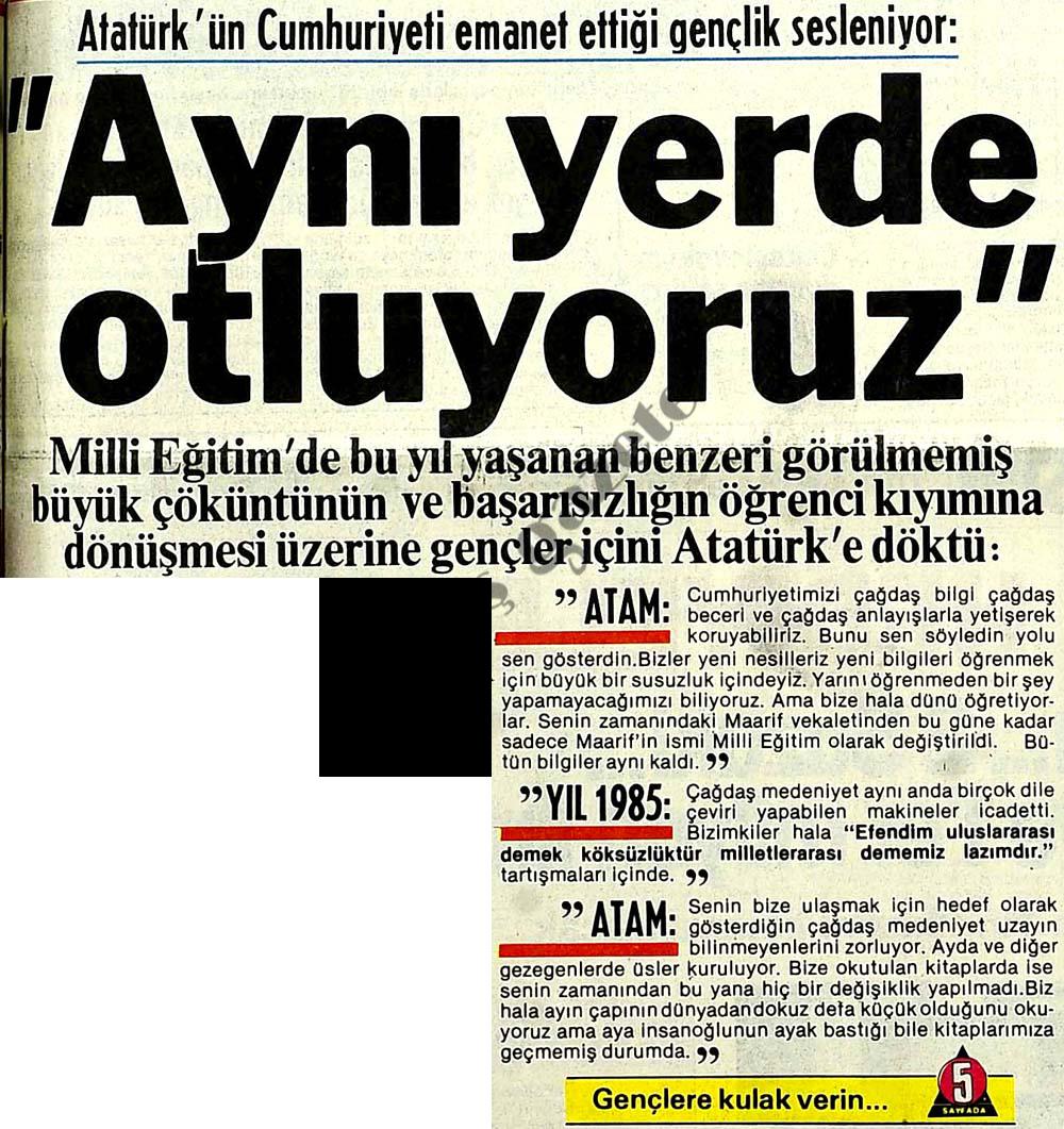 Atatürk'ün emanet ettiği gençlik sesleniyor: