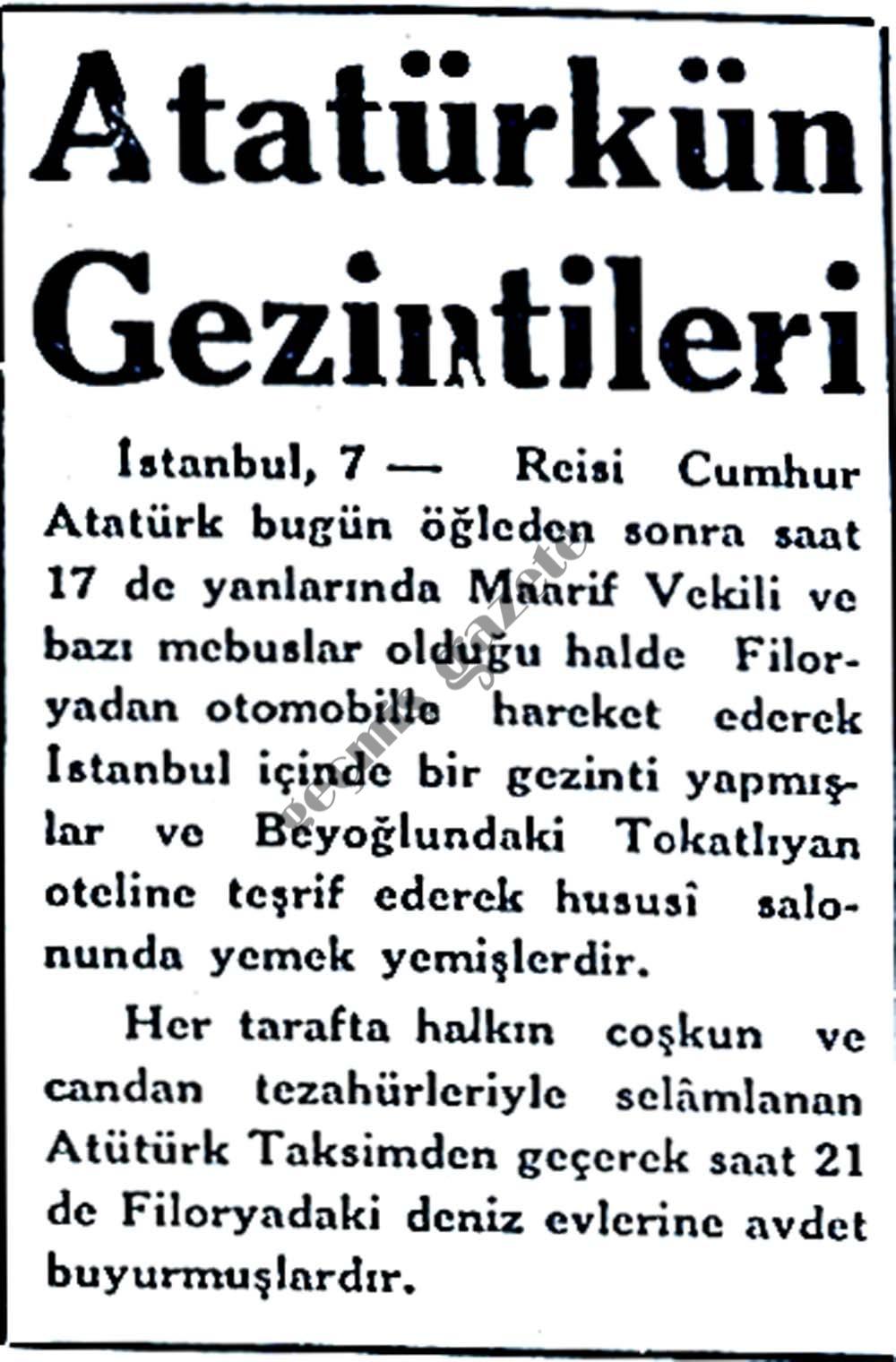 Atatürk'ün Gezintileri