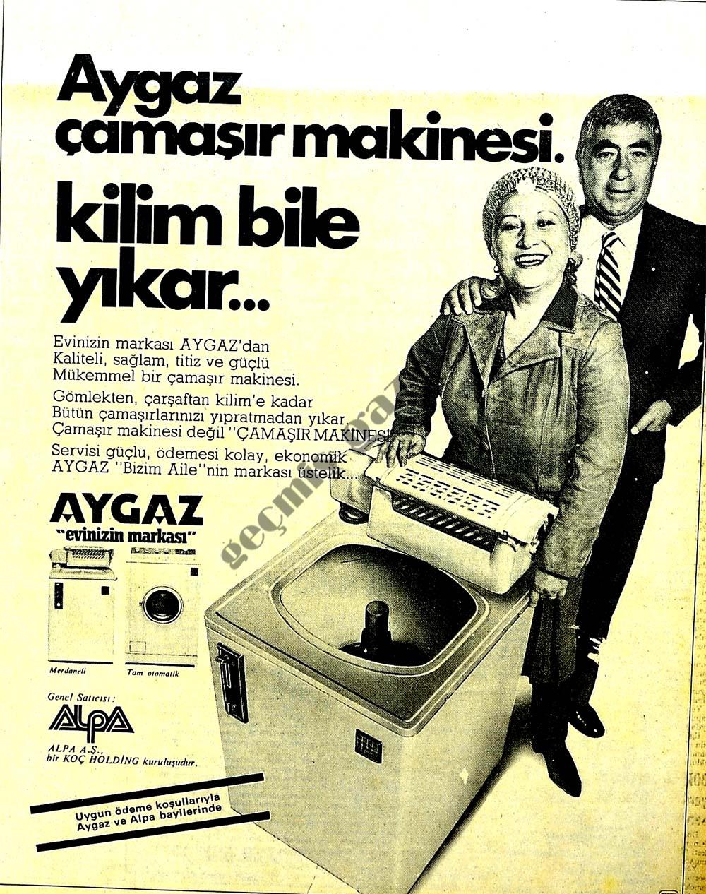Aygaz çamaşır makinesi kilim bile yıkar