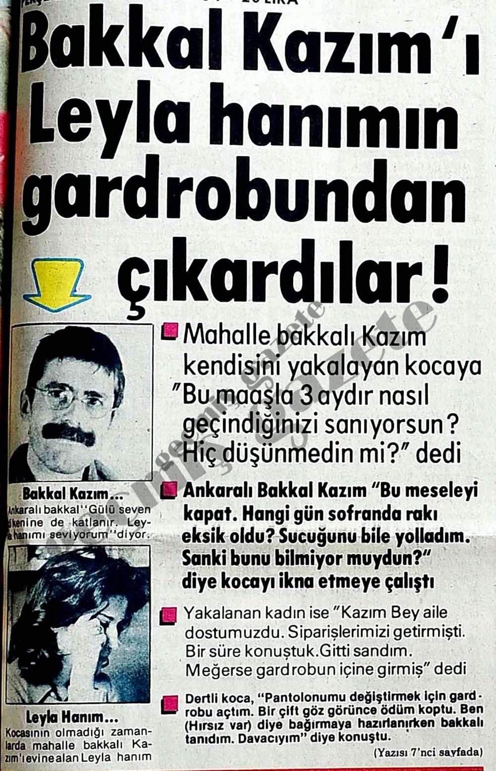 Bakkal Kazım'ı Leyla hanımın gardrobundan çıkardılar!