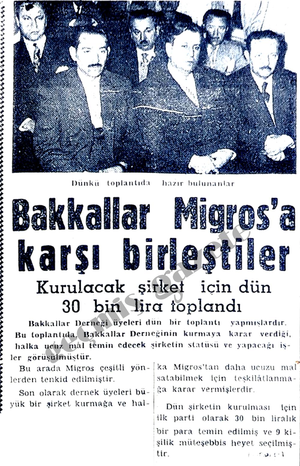 Bakkallar Migros'a karşı birleştiler