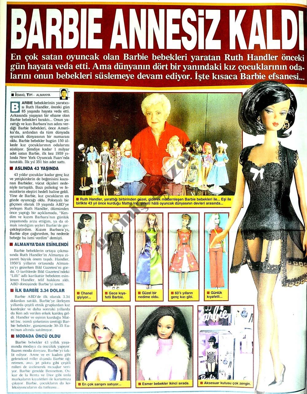 Barbie annesiz kaldı