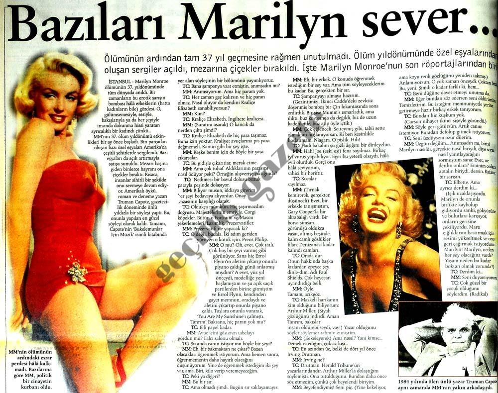 Bazıları Marilyn sever...