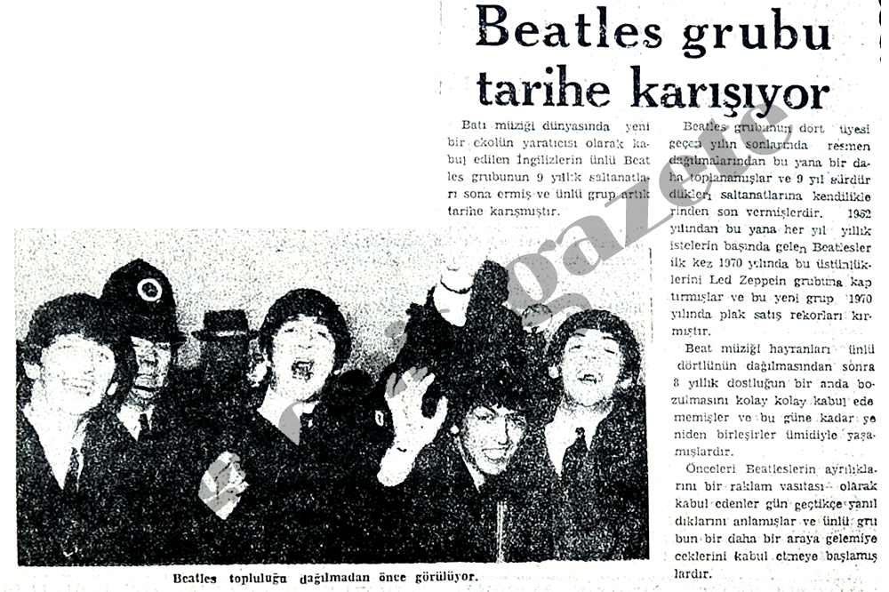 Beatles grubu tarihe karışıyor