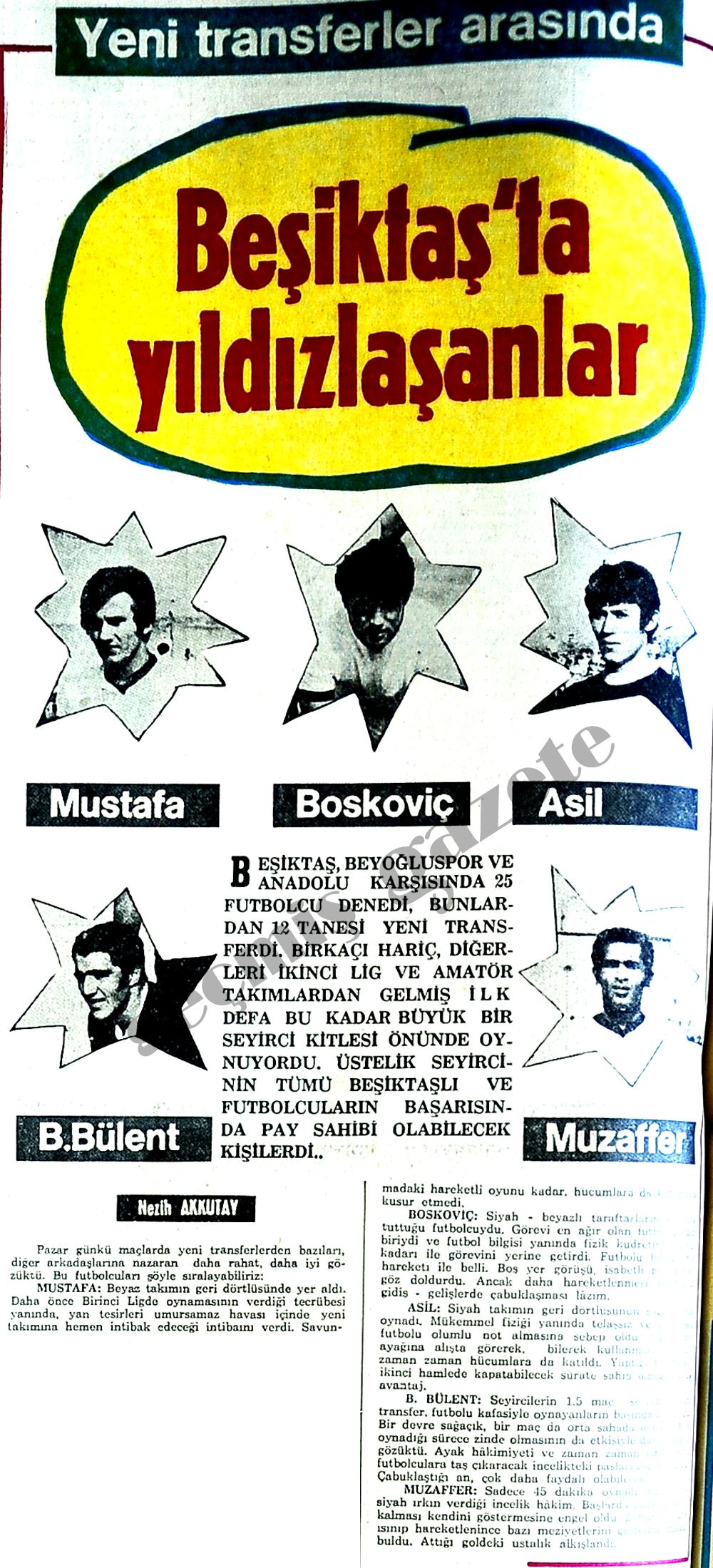 Beşiktaş'ta yıldızlaşanlar