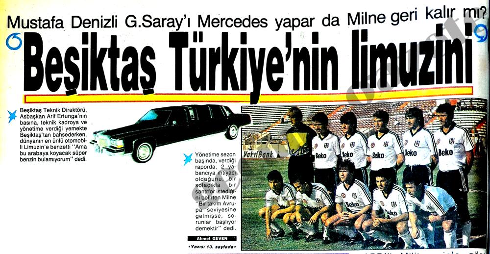 Beşiktaş Türkiye'nin lümuzini