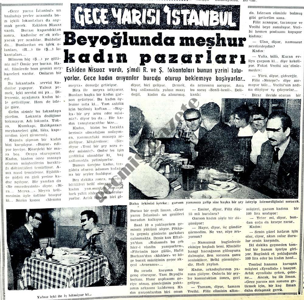 Beyoğlunda meşhur kadın pazarları