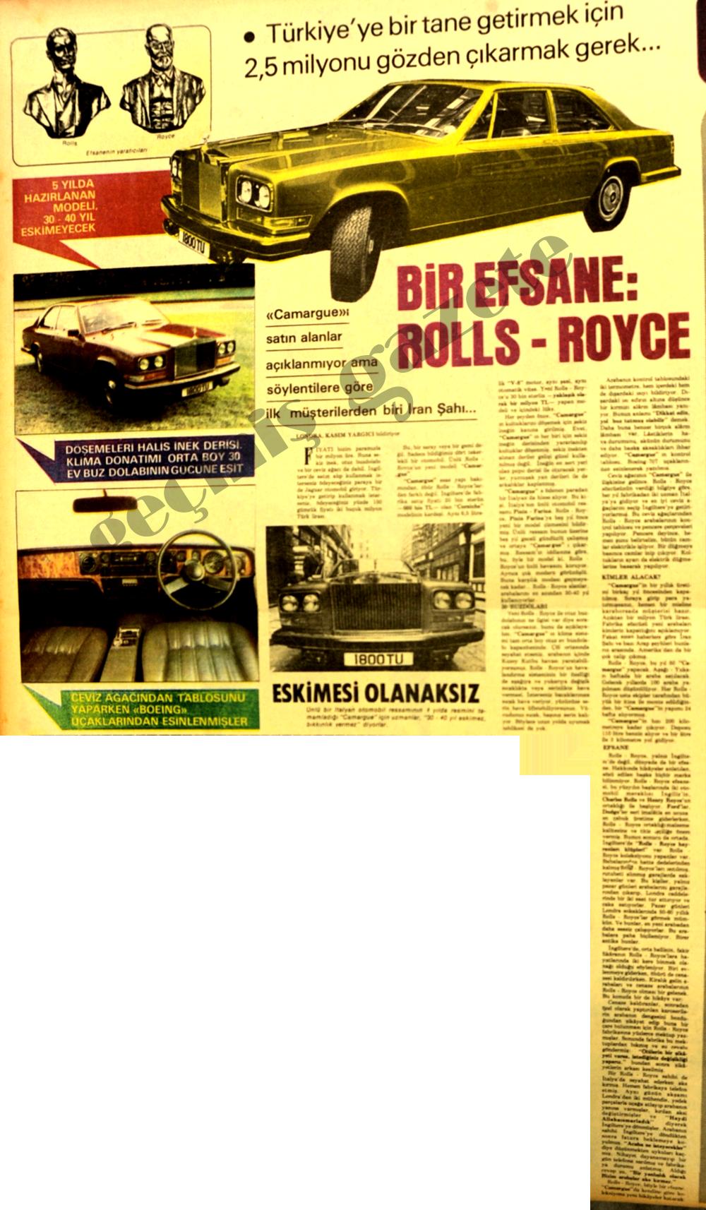 Bir efsane: Rolls-Royce!