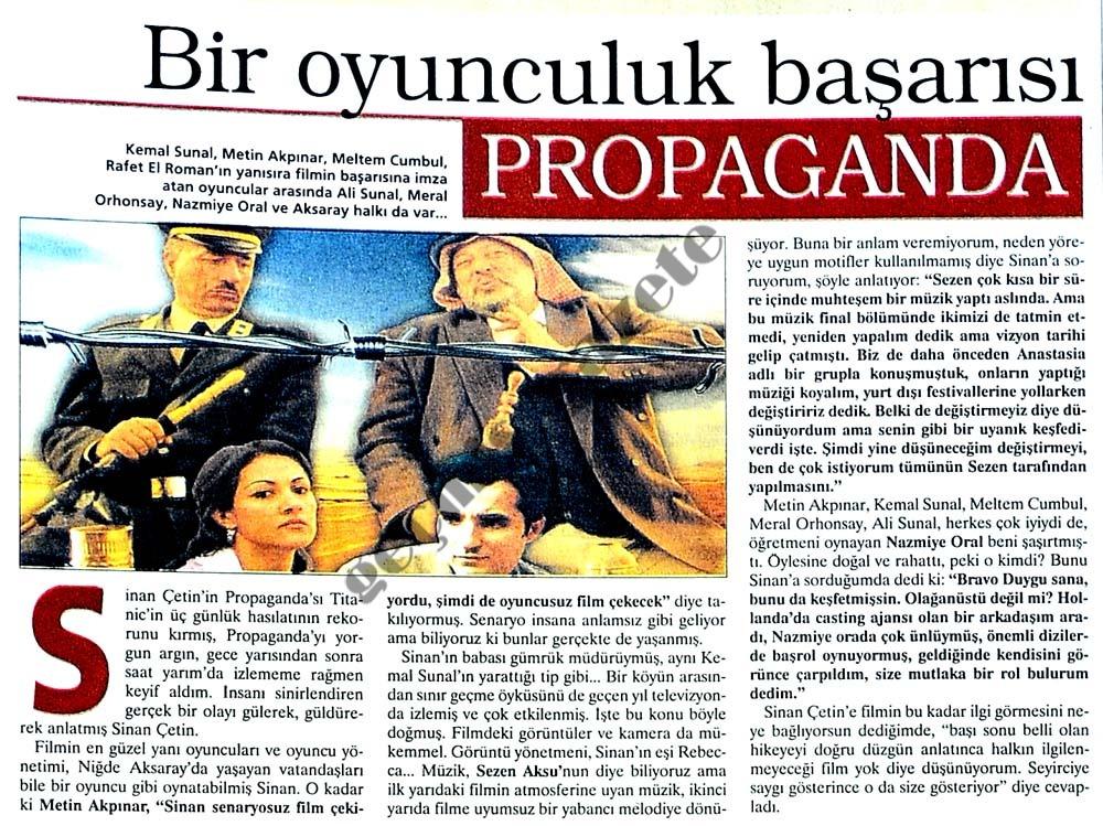 Bir oyunculuk başarıcı Propaganda