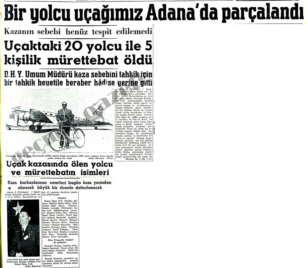 Bir yolcu uçağımız Adana'da parçalandı