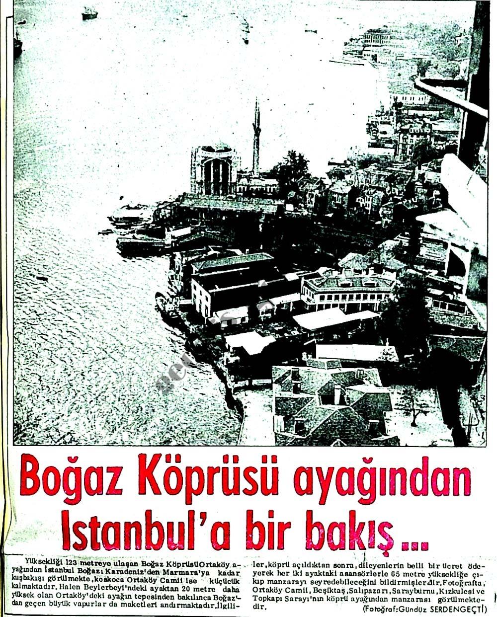 Boğaz Köprüsü ayağından İstanbul'a bir bakış