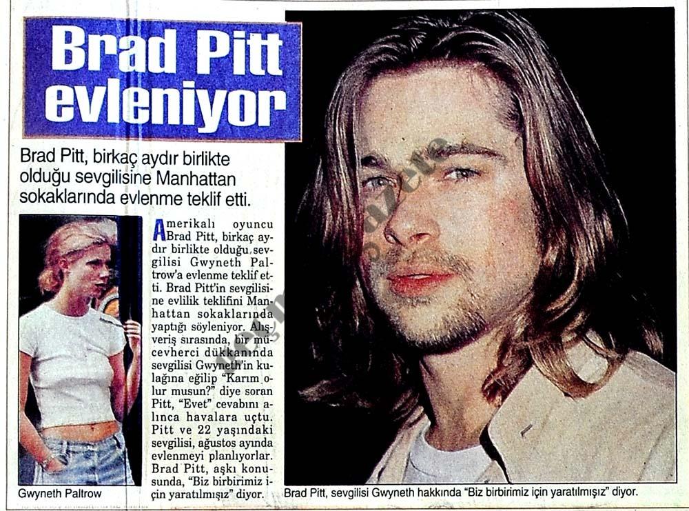 Brad Pitt evleniyor