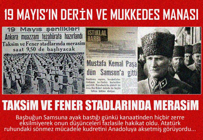 Bütün Türkiye 19 Mayısı Kutluluyor