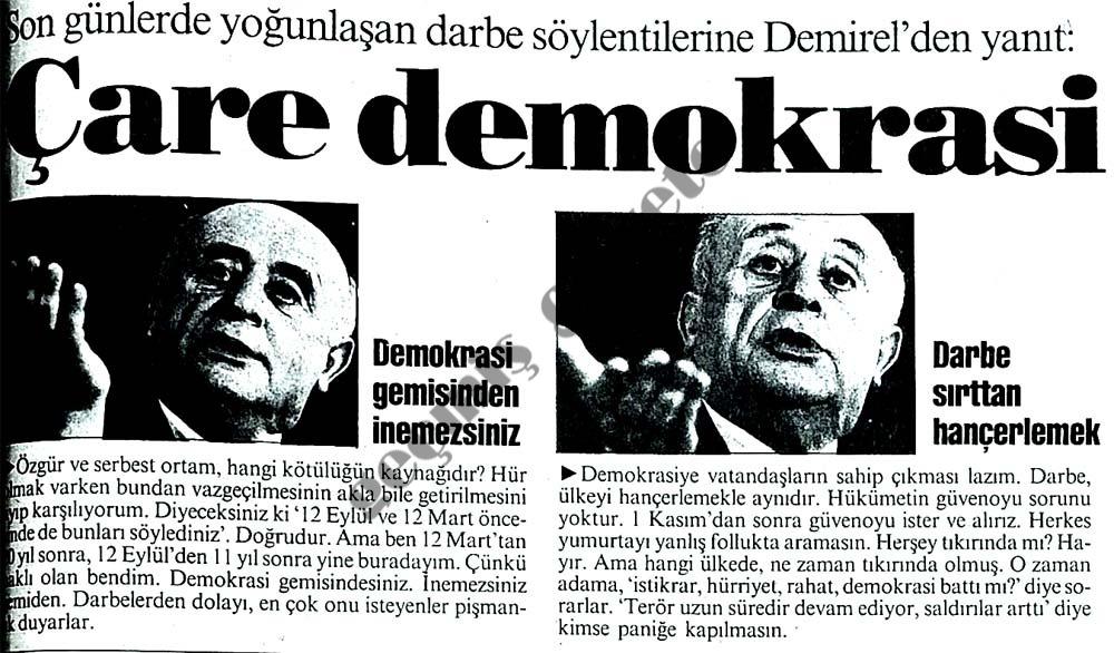 Çare demokrasi