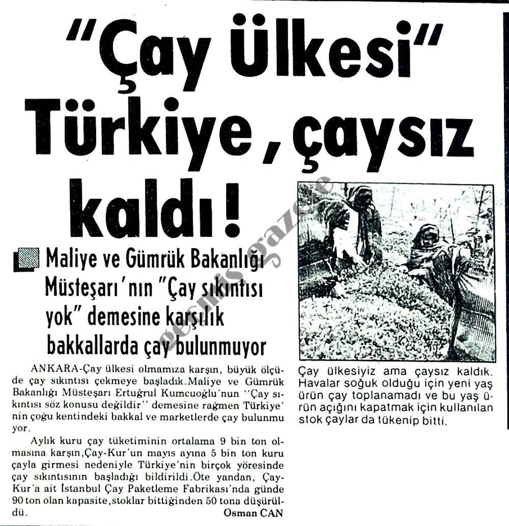 """""""Çay ülkesi"""" Türkiye, çaysız kaldı!"""