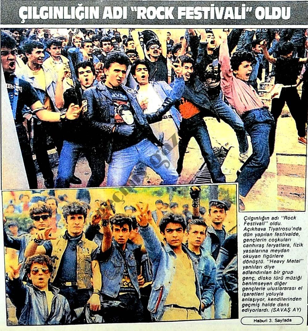 """Çılgınlığın adı """"Rock Festivali"""" oldu"""
