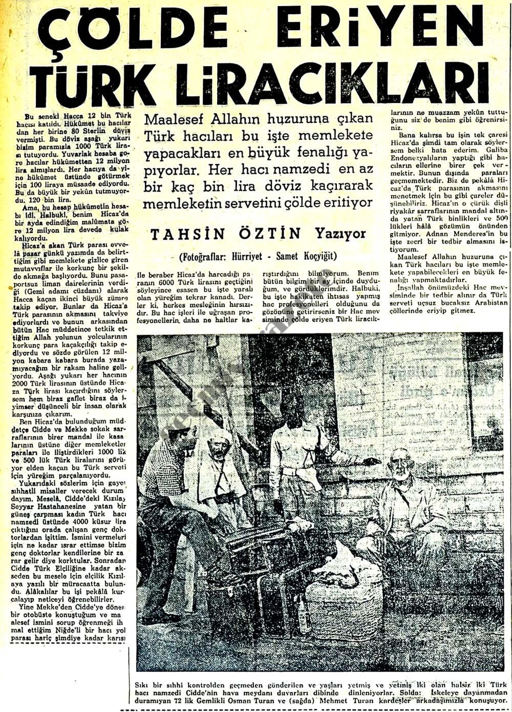 Çölde eriyen Türk Liracıkları