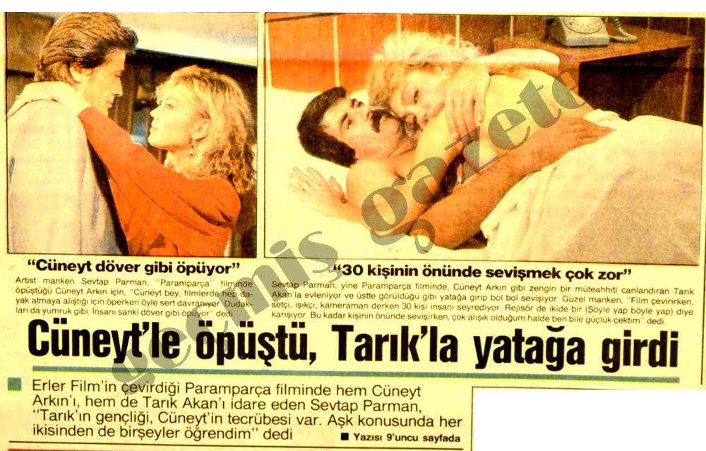 Cüneyt'le öpüştü, Tarık'la yatağa girdi