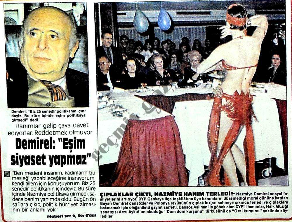 """Demirel: """"Eşim siyaset yapmaz"""""""