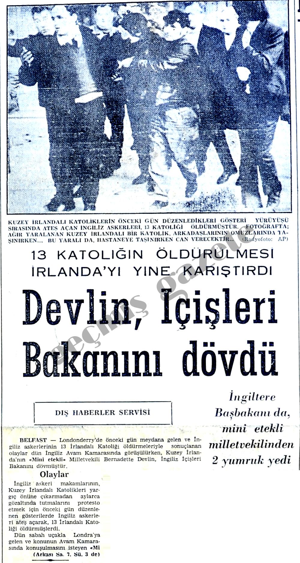 Devlin, İçişleri Bakanını dövdü