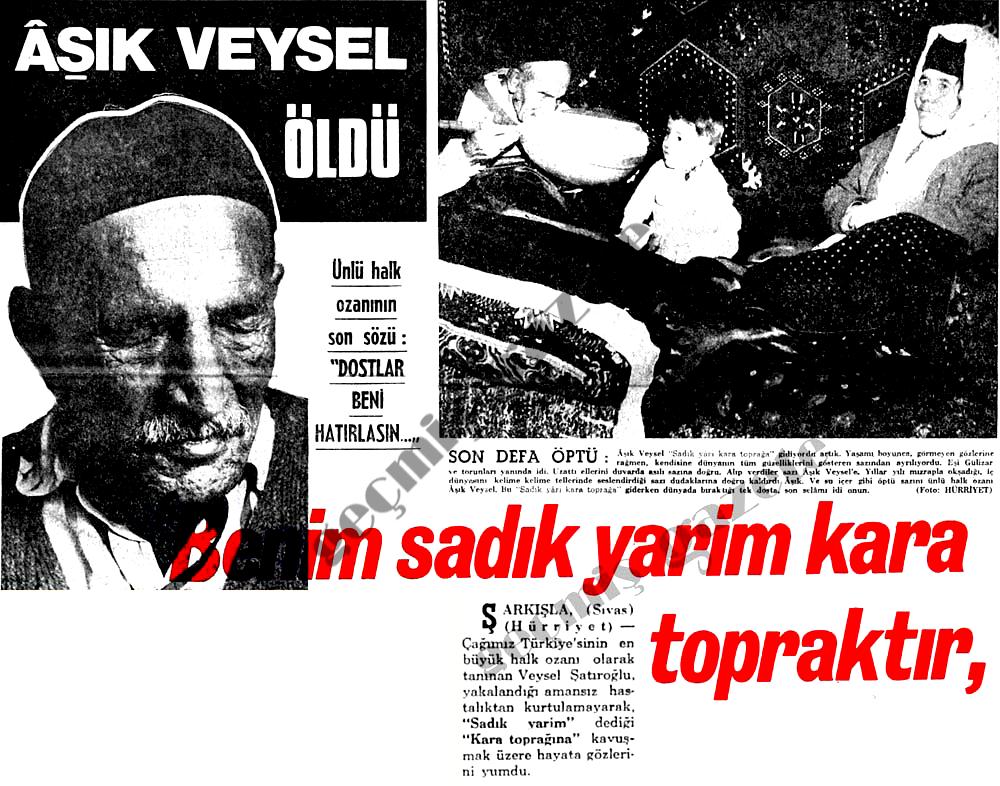 Aşık Veysel öldü