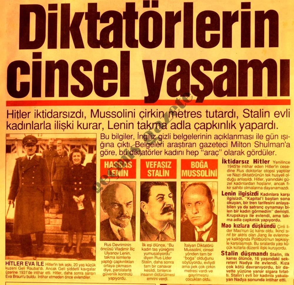 Diktatörlerin cinsel yaşamı