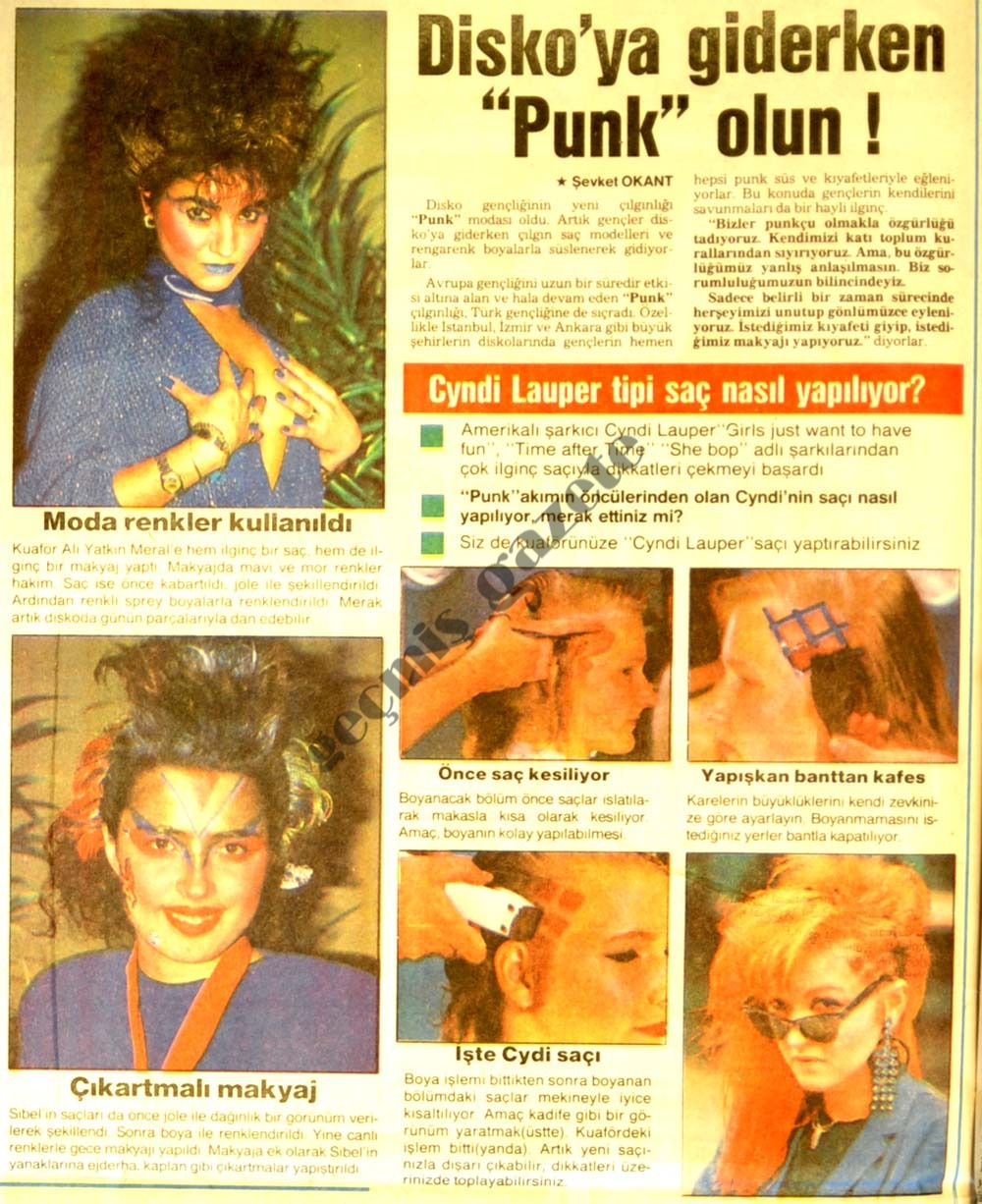 "Disko'ya giderken ""Punk"" olun !"