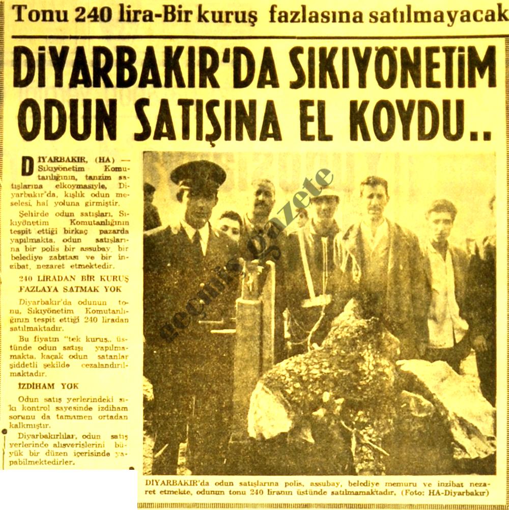 Diyarbakır'da Sıkıyönetim odun satışına el koydu