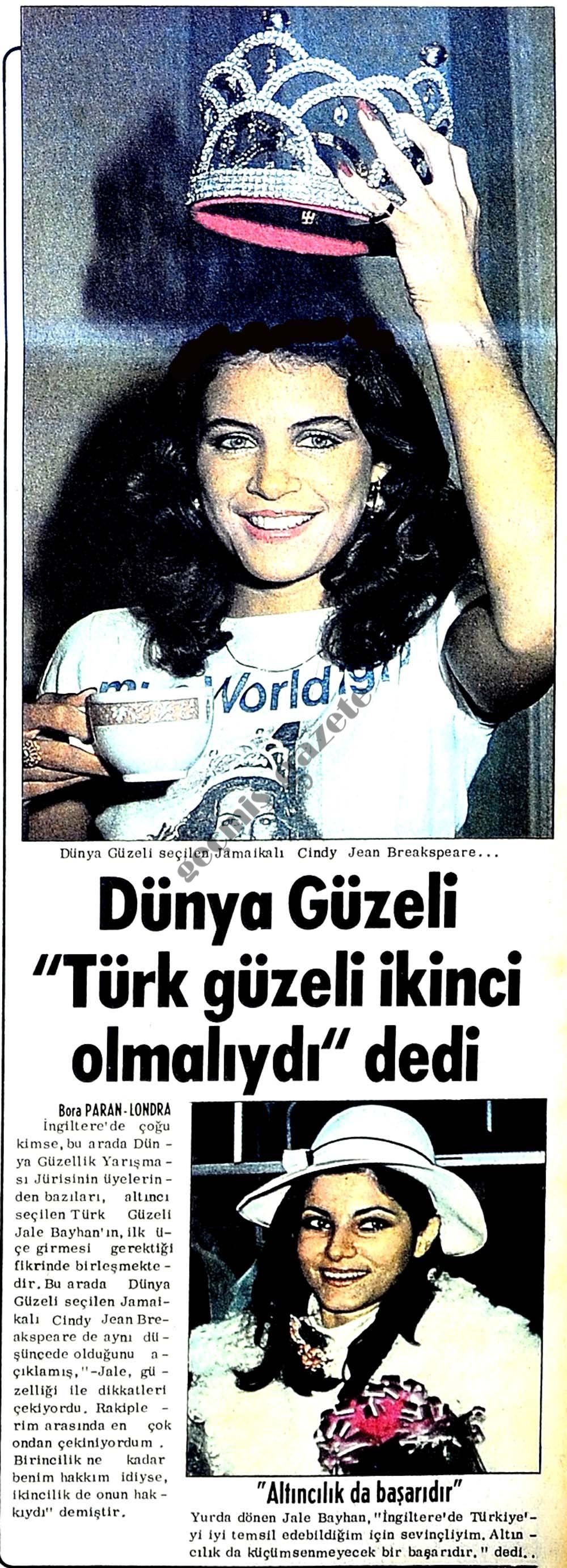 """Dünya Güzeli """"Türk güzeli ikinci olmalıydı"""" dedi"""