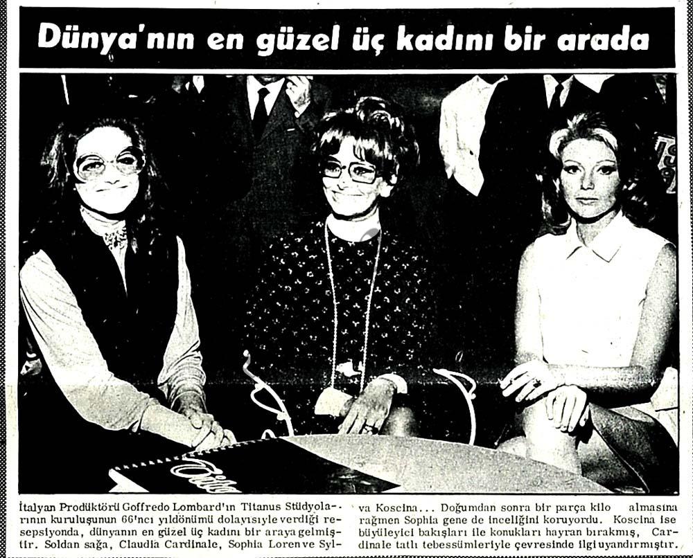 Dünyanın en güzel üç kadını bir arada