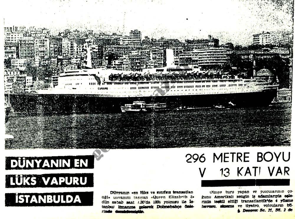 Dünyanın en lüks vapuru İstanbulda