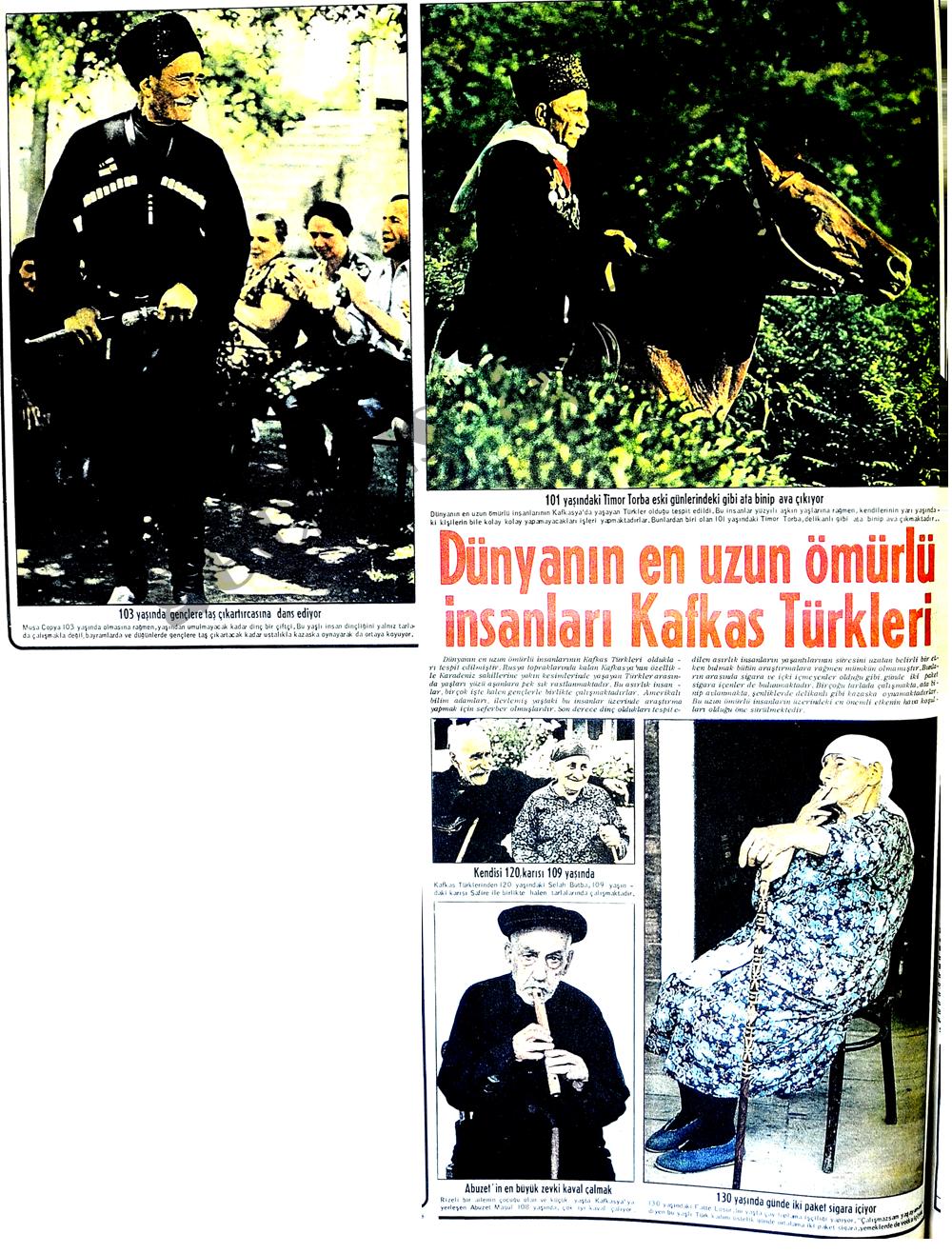 Dünyanın en uzun ömürlü Kafkas Türkleri