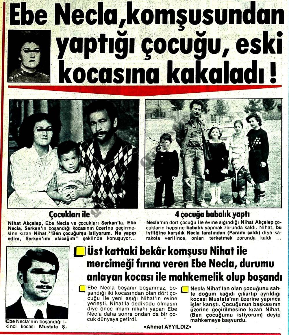 Ebe Necla, komşusundan yaptığı çocuğu, eski kocasına kakaladı!