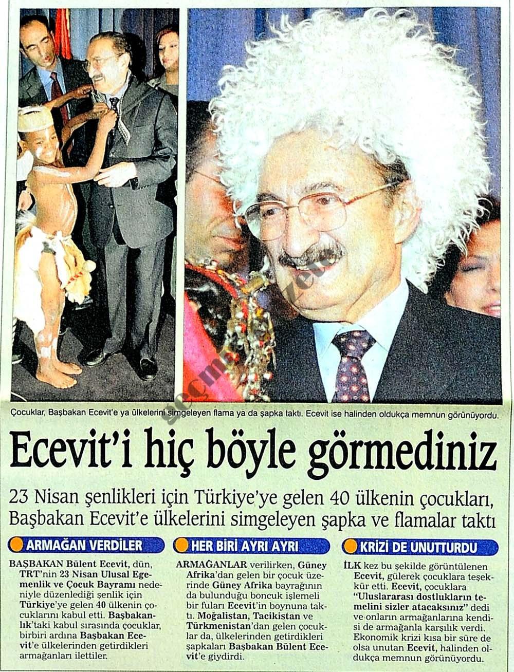 Ecevit'i hiç böyle görmediniz