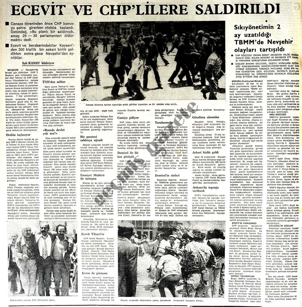 Ecevit ve CHP'lilere saldırıldı