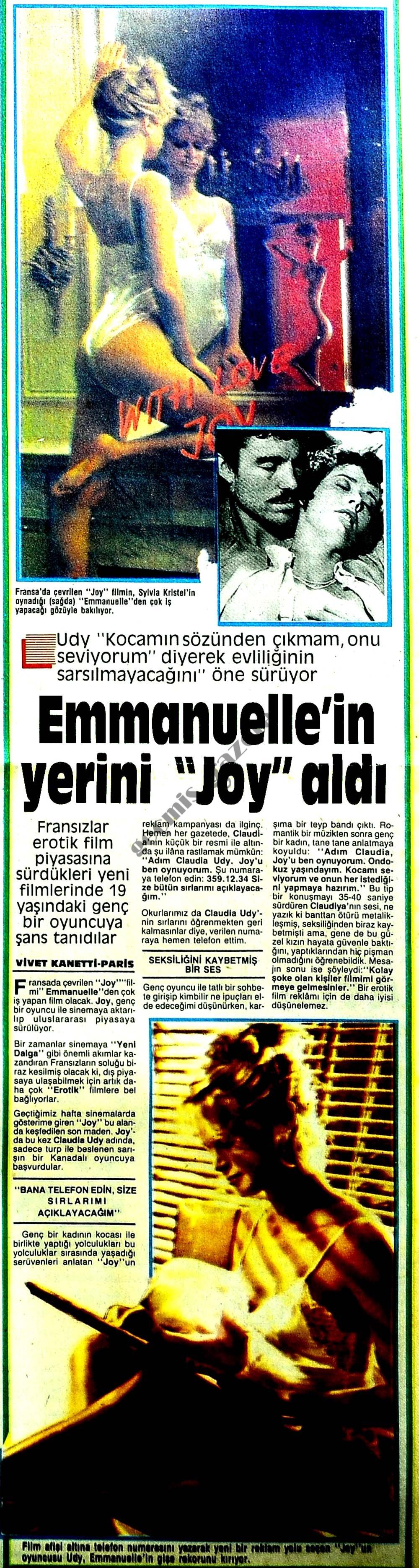 """Emmanuelle'in yerini """"Joy"""" aldı"""