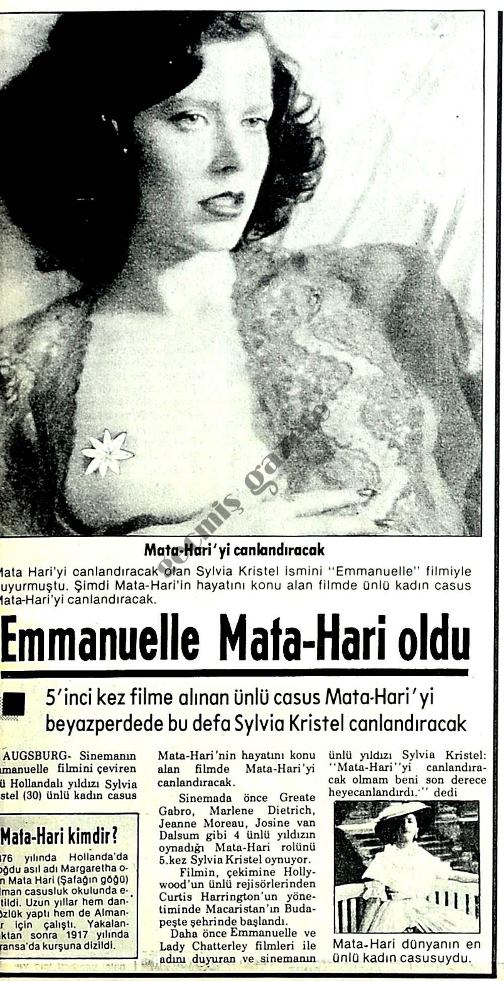 Emmanuelle Mata-Hari oldu