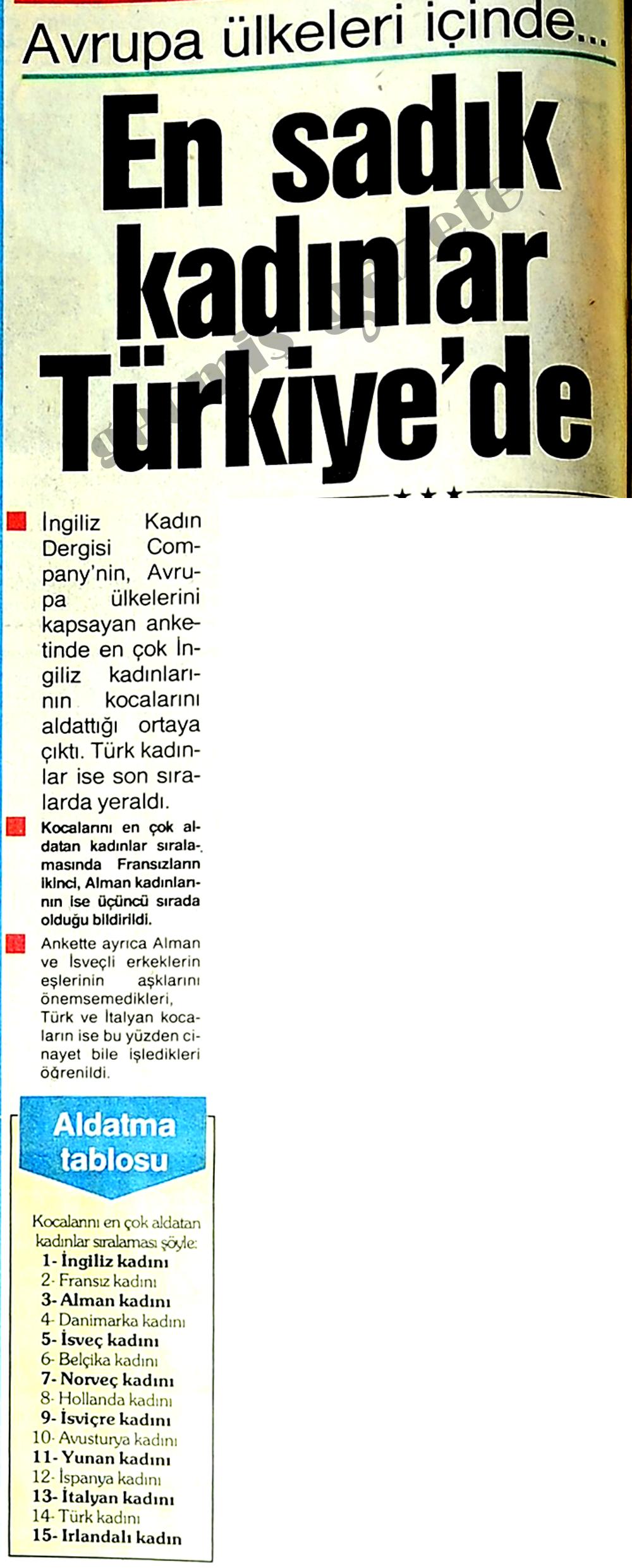 En sadık kadınlar Türkiye'de