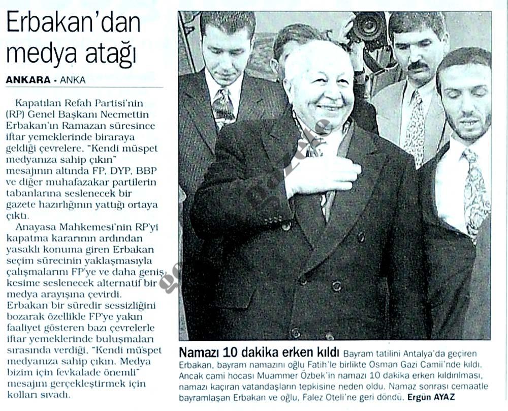Erbakan'dan medya atağı