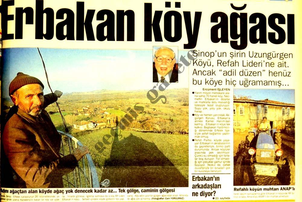 Erbakan köy ağası