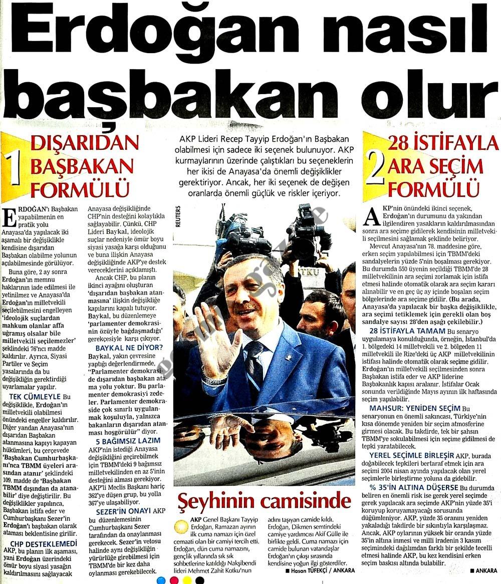 Erdoğan nasıl başbakan olur