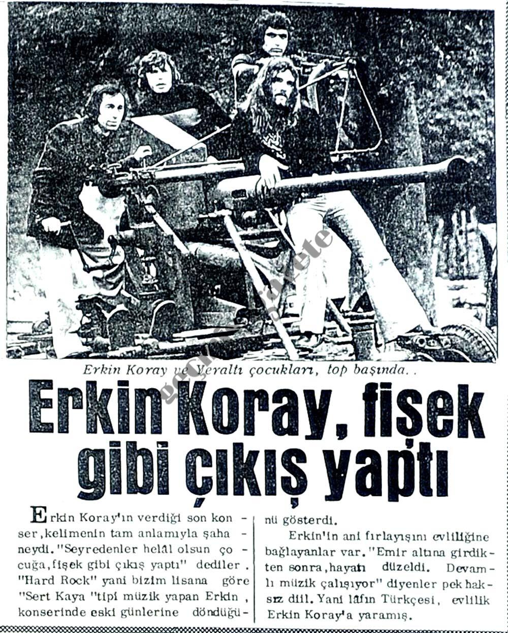 Erkin Koray, fişek gibi çıkış yaptı