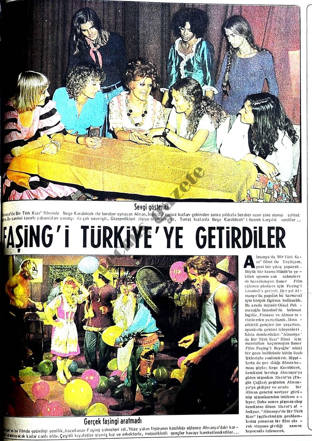 Faşing'i Türkiye'ye getirdiler
