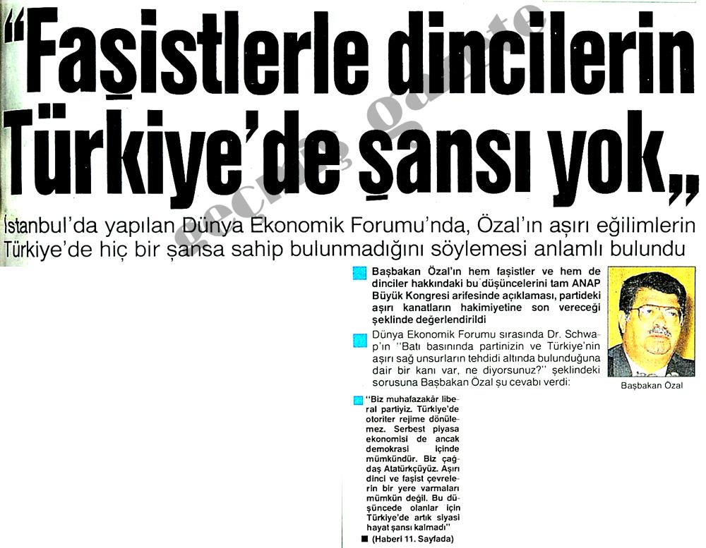 Faşistlerle dincilerin Türkiye'de şansı yok